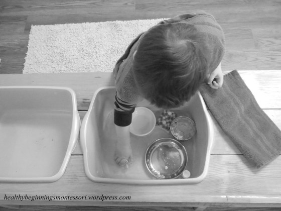 Dish Washing in our Toddler Community