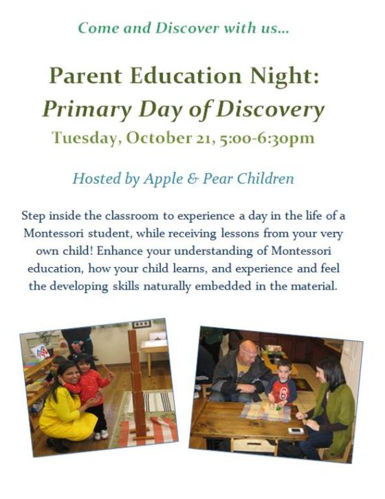 Parent Education Night, Primary Day of Discovery, Oct. 2014_JPEG