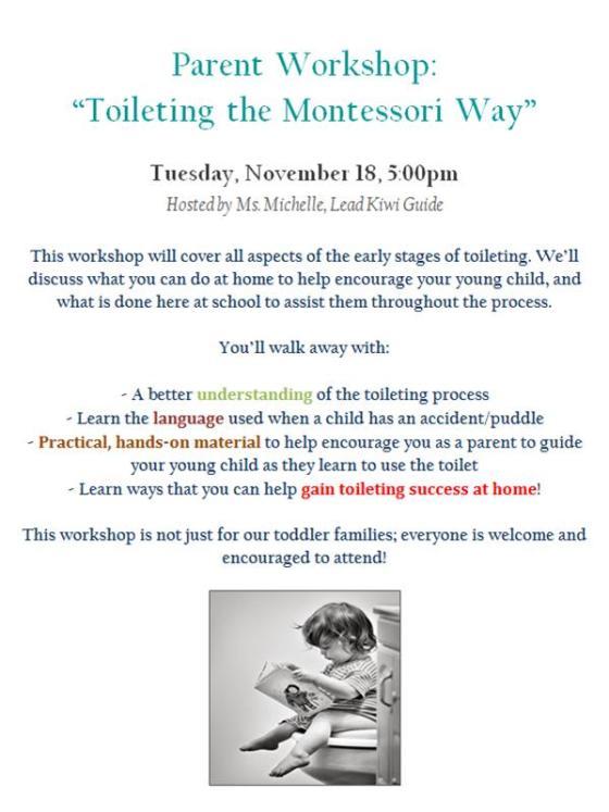toileting workshop flyer