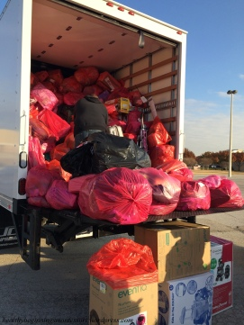 We took the donations to a Salvation Army truck, gathering bags from north DFW. What a generous collection of gifts for children all over the metroplex!
