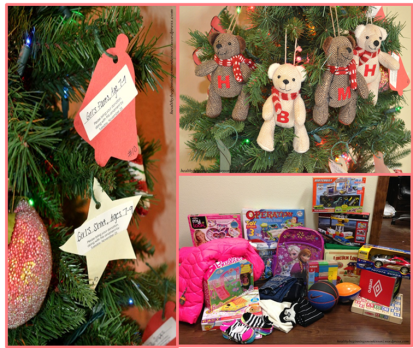 Gifts collected for our precious angels from the Salvation Army Angel Tree Charity.