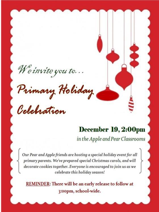 Primary Holiday Celebration 2014