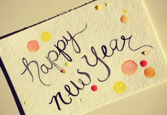 HappyNewYear-2013-Watercolor
