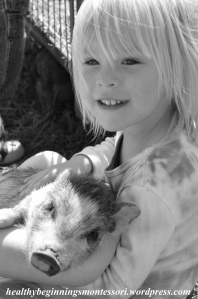 A petting zoo is a great way to teach children how to gently handle and care for small animals.