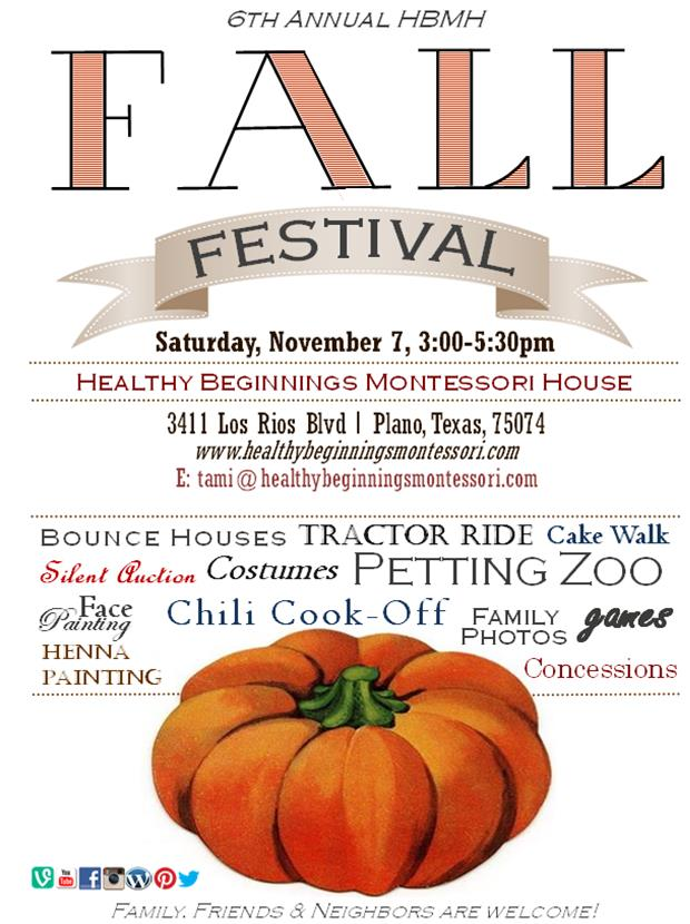 Community Event: HBMH 6th Annual Fall Festival, November 7, 3:00-5:30pm