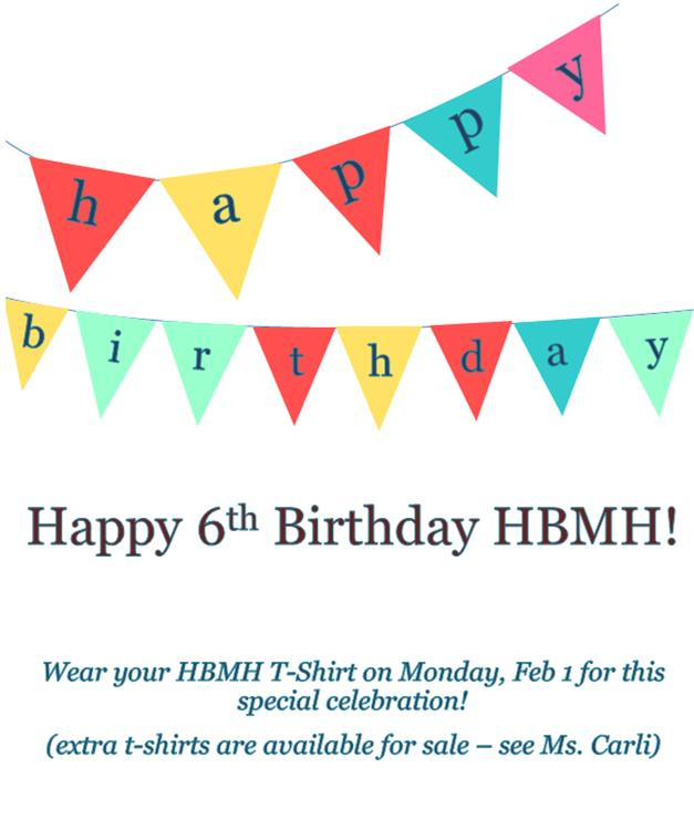 Help us Celebrate the 6th Anniversary ofHBMH!