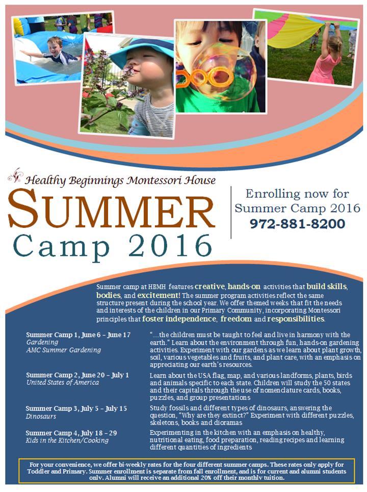 Summer Camp at HBMH –2016