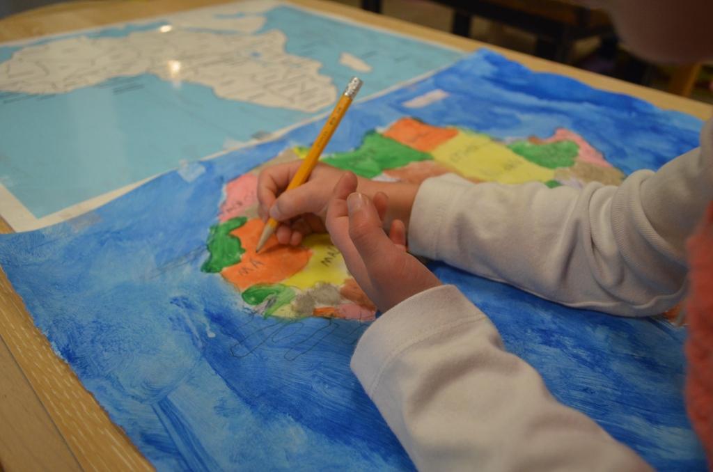 Montessori Map Making - Healthy Beginnings Montessori House