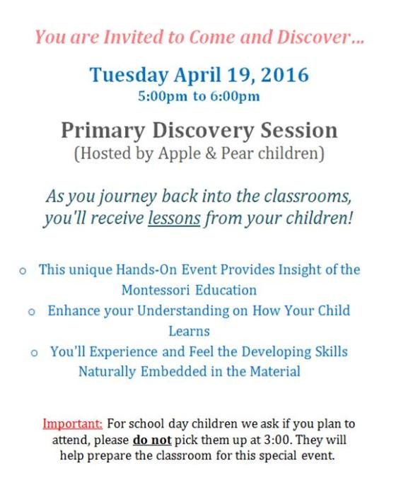 Discovery Session_April 2016