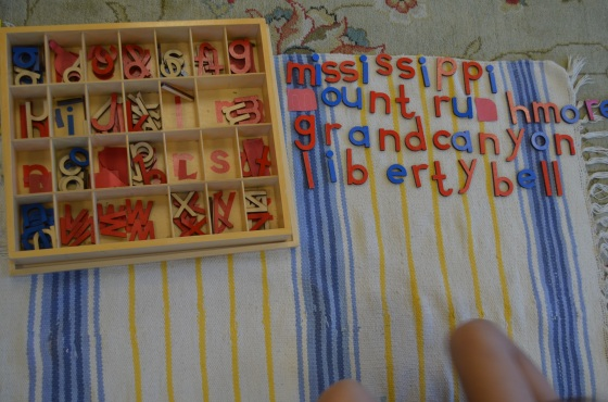 The Move-able Alphabet - Montessori Works - Healthy Beginnings Montessori House